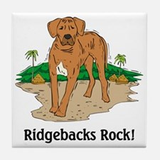 Ridgebacks Rock! Tile Coaster