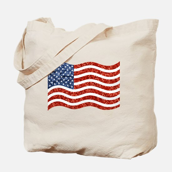 Cool Red white blue Tote Bag