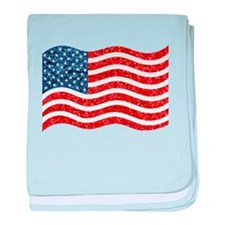 sequin american flag baby blanket
