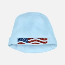 sequin american flag baby hat