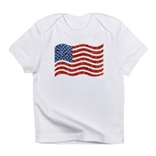 sequin american flag Infant T-Shirt