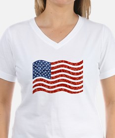 sequin american flag T-Shirt