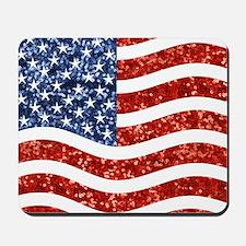 sequin american flag Mousepad