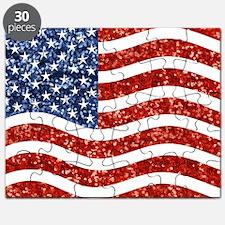sequin american flag Puzzle
