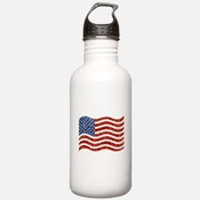 sequin american flag Water Bottle