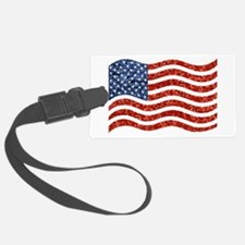 sequin american flag Luggage Tag