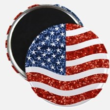 sequin american flag Magnets
