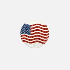 sequin american flag Mini Button