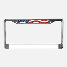 sequin american flag License Plate Frame