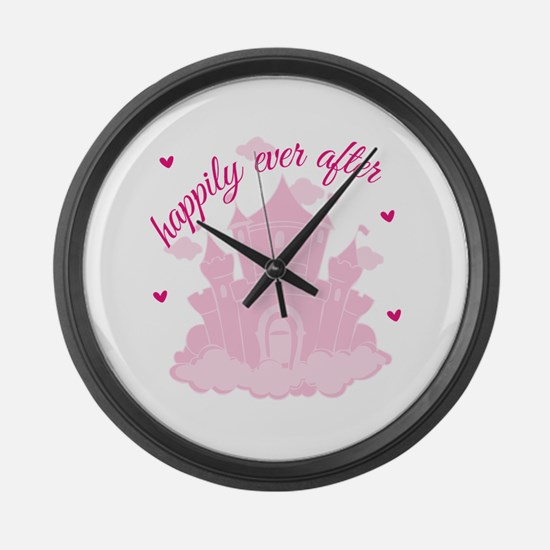 Happily Ever After Large Wall Clock