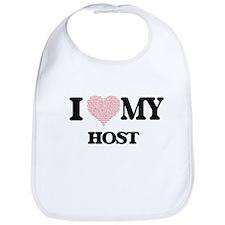 I love my Host (Heart Made from Words) Bib