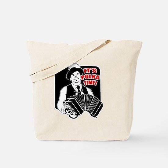 Polka Time Tote Bag