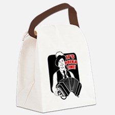 Polka Time Canvas Lunch Bag