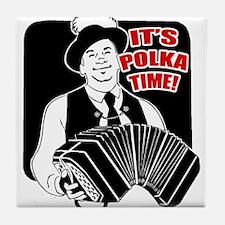 Polka Time Tile Coaster