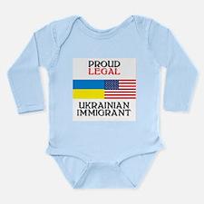 Cute Ukranian Long Sleeve Infant Bodysuit