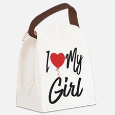 I love my Girl Canvas Lunch Bag