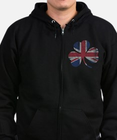 Unique Irish flag Zip Hoodie