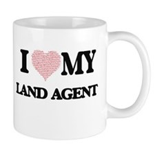 I love my Land Agent (Heart Made from Words) Mugs