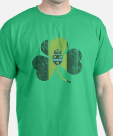 Irish Pittsburgh Flag Shamrock T-Shirt
