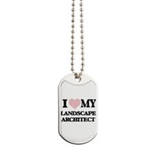 I love my Landscape Architect (Heart Made Dog Tags