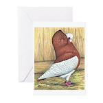 Red Komorner Tumbler Greeting Cards (Pk of 10)
