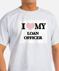 I love my Loan Officer (Heart Made from Wo T-Shirt