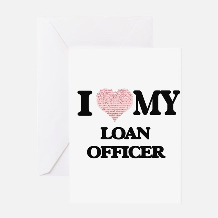 I love my Loan Officer (Heart Made Greeting Cards