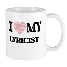 I love my Lyricist (Heart Made from Words) Mugs