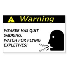 Quit Smoking Disclaimer Rectangle Decal