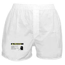 Quit Smoking Disclaimer Boxer Shorts