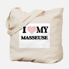 I love my Masseuse (Heart Made from Words Tote Bag