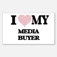 I love my Media Buyer (Heart Made from Wor Decal