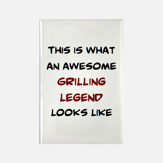 awesome grilling legend Rectangle Magnet