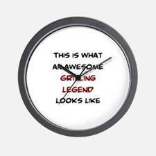awesome grilling legend Wall Clock