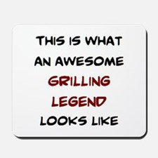 awesome grilling legend Mousepad