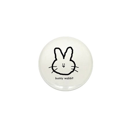 Bunny Wabbit Mini Button
