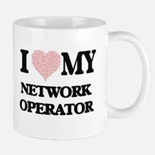 I love my Network Operator (Heart Made from W Mugs