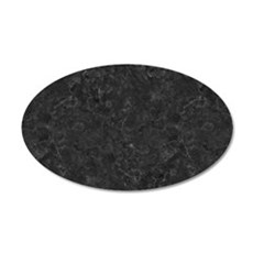 BLACK MARBLE 20x12 Oval Wall Decal