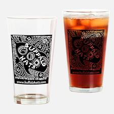 Rocketship Buffy (white On Black) Drinking Glass