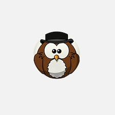 Bowler Owl Mini Button