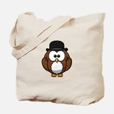 Bowler Owl Tote Bag