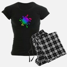 Rainbow Paint Splatter Pajamas