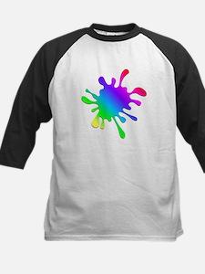 Rainbow Paint Splatter Baseball Jersey
