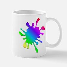 Rainbow Paint Splatter Mugs