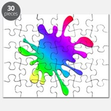 Rainbow Paint Splatter Puzzle