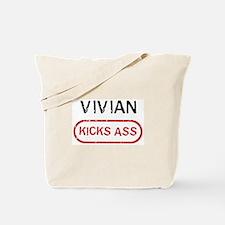 VIVIAN kicks ass Tote Bag