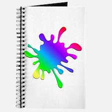Rainbow Paint Splatter Journal