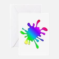 Rainbow Paint Splatter Greeting Cards