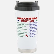 Cute Yellow labrador Travel Mug
