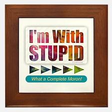 I'm with Stupid Framed Tile